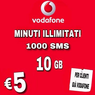 Coupon Special 10 Gb Clienti Vodafone Minuti Illimitati 1000 Sms 10 Gb Solo €5