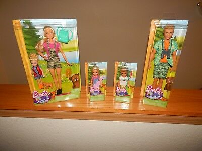 Camping Fun Lot Barbie Chelsea Ken Tommy Boy Fishing Lantern FREE SHIPPING!!