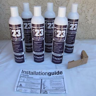 123 SG Spray Smart Platinum Flooring Adhesive 22oz Case of 6 Cans + Lever