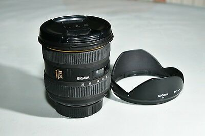 Sigma 10-20mm 1:4-5,6 DC HSM wide angle zoom lens for Nikon good condition