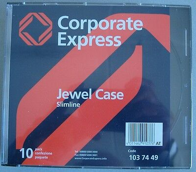 Estuches de CD/DVD Jewel Case Slimline Corporate Express - Pack de 10 unidades