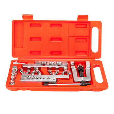 Car Truck Tool Double Flaring Brake Line Tool Kit Tubing with Mini Pipe Cutter