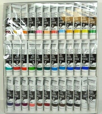 NEW Turner Acrylic Gouache 36 color set 20ml / Free Shipping