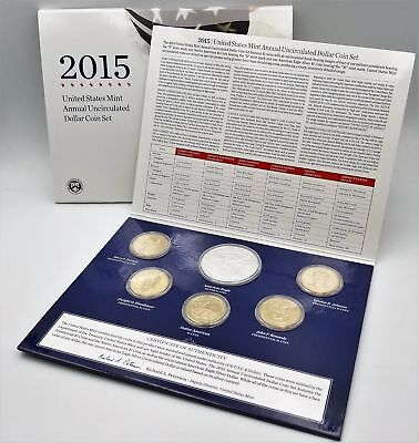 2015 Annual Uncirculated Dollar Coin Set OGP