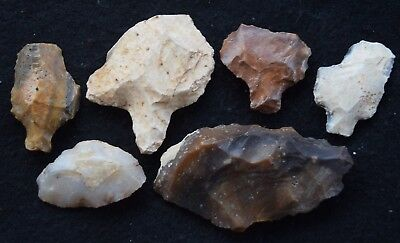 6 good Sahara Aterian tools, 30,000+ years old
