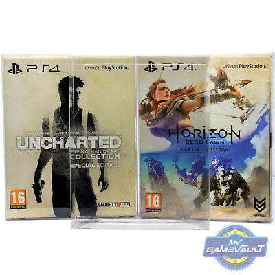 5 x BOX PROTECTORS Horizon Limited & Special PS4 Games STRONG 0.5mm PLASTIC CASE
