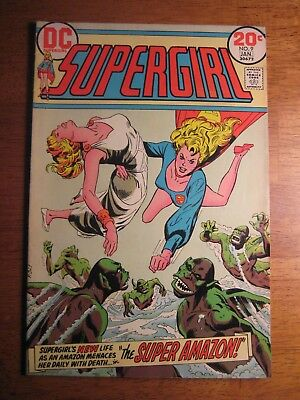 SUPERGIRL #9, Dec-Jan 1973/74 (VF) ---> but blemish/stain back cvr