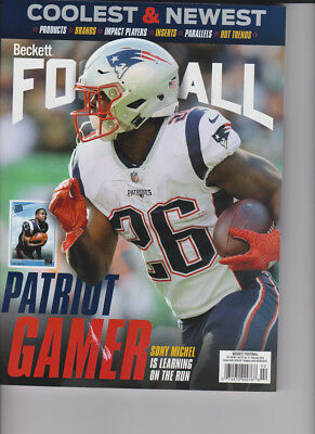 February 2019 Beckett Football Price Guide Magazine Vol 32 No 2 Sony Michel