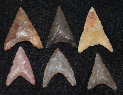 6 nice Sahara Neolithic triangular points, diverse lithics