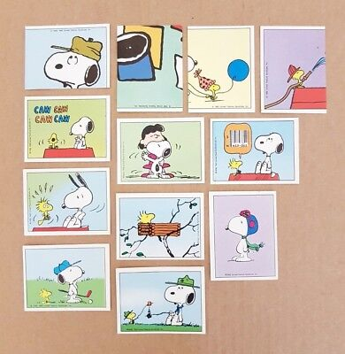 Bundle of 12 PANINI SNOOPY STICKERS for Album
