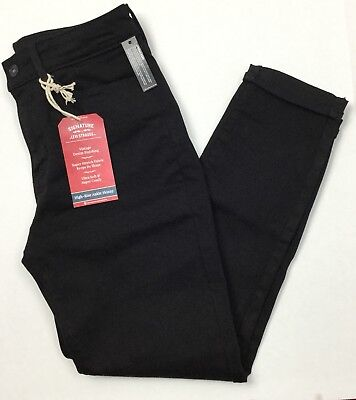 Signature by Levi Strauss & Co.Women's Black High Rise Ankle Skinny Cuff Jeans