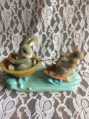 """CHARMING TAILS; """" A DAY AT THE LAKE"""", Fitz & Floyd collectible"""