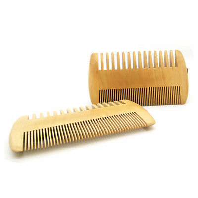 Wooden Beard Comb Men Hair Mustaches Double-Sided Fine Coarse Teeth Grooming G