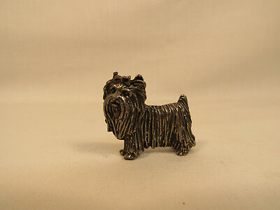 Vintage Metal MALTESE SHIH TZU Dog Figurine