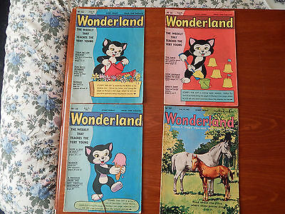 4X Vintage Wonderland The Weekly That Teaches The Young 1962 Comic Magazine Old
