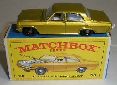 Repro Box Matchbox Superfast Nr.36 Opel Diplomat