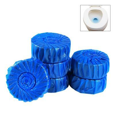 10Pcs/Set Automatic Bleach Toilet Bowl Cleaner Stain Remover Blue Tablet Flush