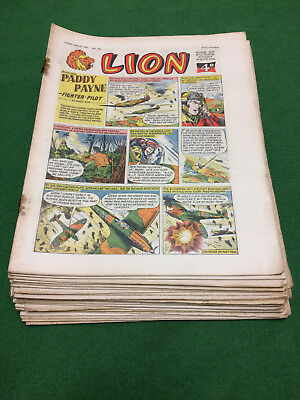 LION comics 1957 vintage x23 First Paddy Payne July-December No.s 284-304