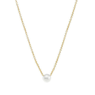 Fashion Women Ladies Gold/Silver Small Faux Pearl Pendant Necklace Gift G