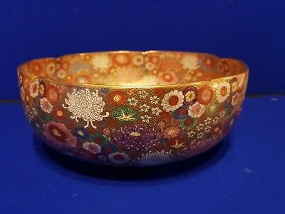 Early 20th century  Large Japanese Satsuma Bowl 30 cm  diameter  12 cm tall