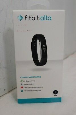 Fitbit Alta Activity Tracker Fitness Wristband Large - Black