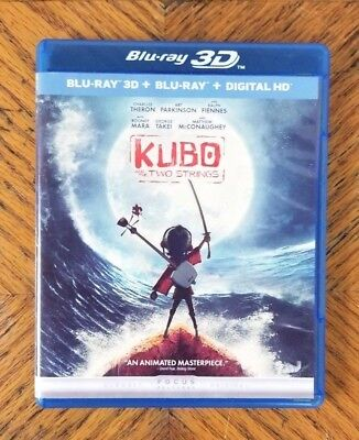 Kubo and the Two Strings (3D Blu-ray, 2016) USED Blu-ray Disc ONLY