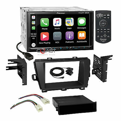 Pioneer 2018 Carplay GPS Ready Stereo Dash Kit Harness for 2010-12 Toyota Prius