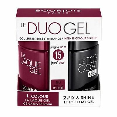 Bourjois Vernis à ongles  Duo Gel La laque gel + Le top coat gel Cherry d'amour