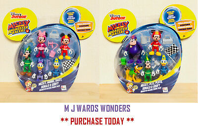 Disney Mickey Mouse Roadster Racers 5 Pack Figures - 2 SETS TO PICK FROM