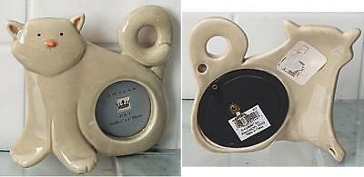 """Amscan Pet Ceramic Cat Shaped Frame Holds 2"""" x 2"""" photo New"""