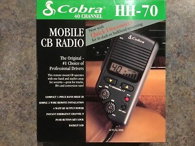 Cobra Mobile CB Radio HH-70 NEW IN BOX