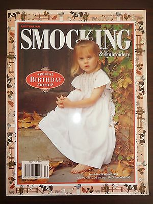Australian Smocking & Embroidery Magazine - Issue 29 - Winter 1994 - As New