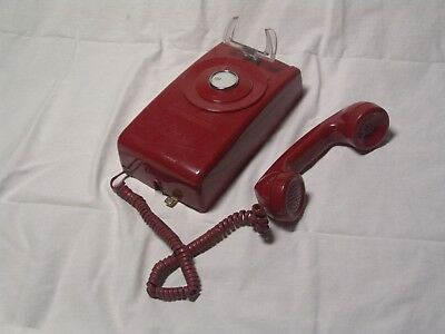 vintage retro PRESIDENT or BATMAN  RED desk phone incoming calls only for VIP