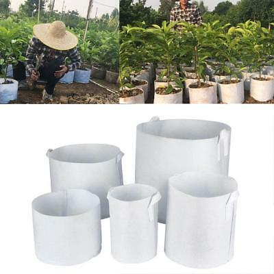 Round Fabric Pots Plant Pouch Root Container Grow Bag Aeration Pot Containe X8E5
