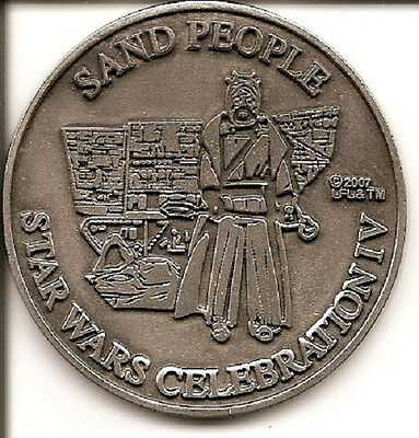 Star Wars Celebration IV Sand People medallion - pewter
