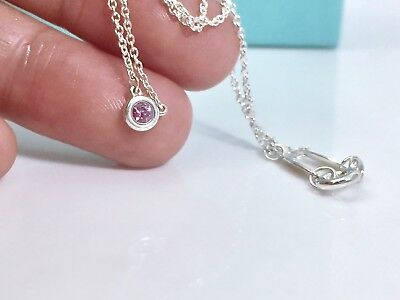 fe776f993 Tiffany & Co Silver Peretti Pink Sapphire Color By The Yard 16.5in Necklace  1812