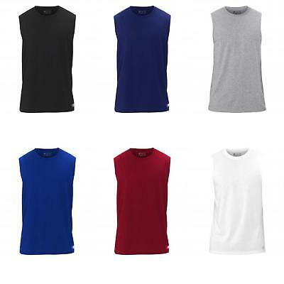 Russell Athletic Men's Essential Jersey Sleeveless Muscle T-Shirt. 64MTTM