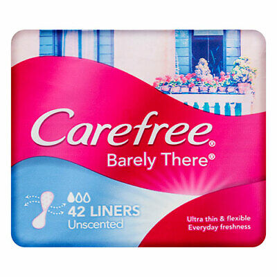 NEW Carefree Barely There Liners Unscented 42 Pack