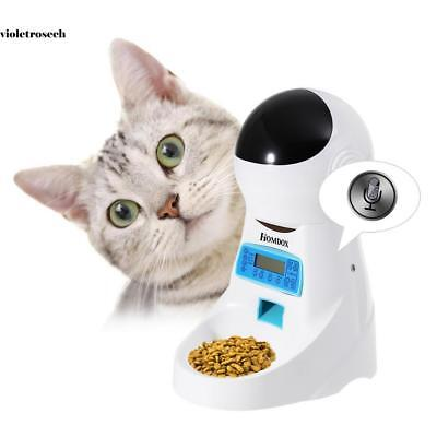 Automatic Pet Feeder Dog Cat Programmable Food Bowl Timer Dispenser LCD Display1