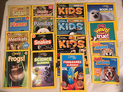 Lot NATIONAL GEOGRAPHIC KIDS Just Joking SCIENCE Snakes PANDAS Lot of 16 LEVEL