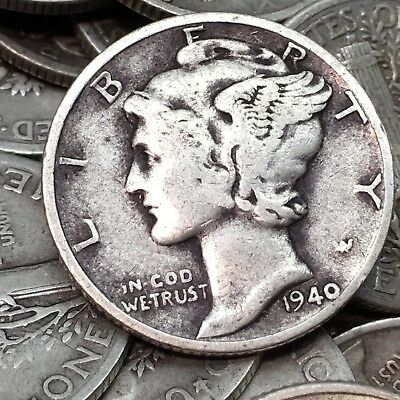 90% Silver Mercury Dimes $3 Face Value