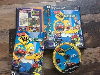 Simpsons: Hit & Run (Sony PlayStation 2, 2003) Used Free US Shipping