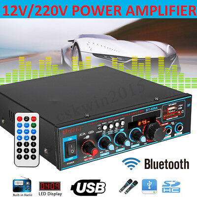 800W HIFI digitale bluetooth Stereo amplificatore Audio SD FM Radio Mic Car Home