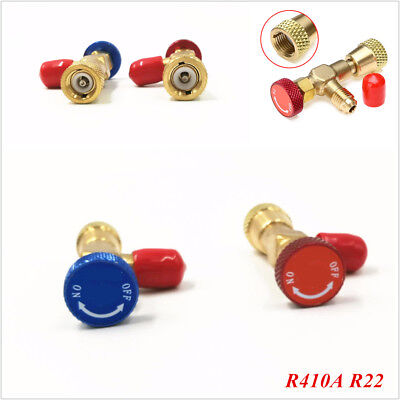"R22 R410A Air Conditioning Refrigeration Charging Adapter For 1/4"" Safety Valve"
