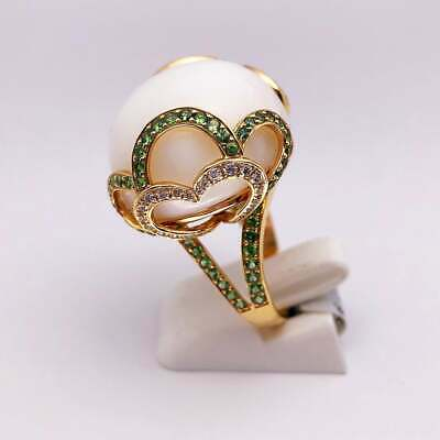 Gorgeous Oval Cut Moonstone Sapphire Ring Women Wedding Engagement Jewelry Gift