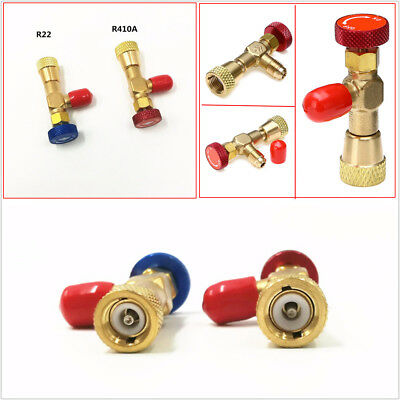 2 Pcs Liquid Valve Remover R410A R22 Air Conditioning Refrigerant 1/4'' Adapter