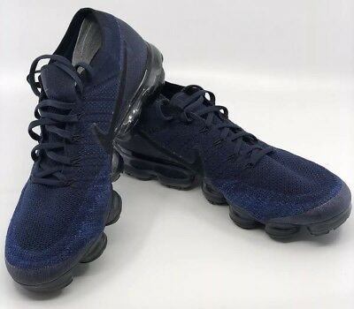 NIKE AIR VAPORMAX FLYKNIT NAVY BLUE SIZE 12  Excellent Condition Must See Rare
