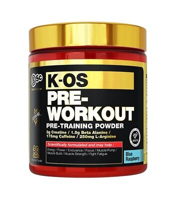 Bsc K-Os Pre Workout 30 Serves Blue Raspberry