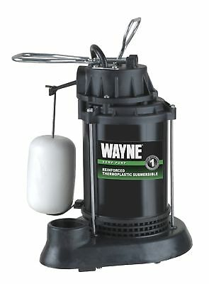 WAYNE SPF33 Thermoplastic Submersible Sump Pump With Vertical Float Switch