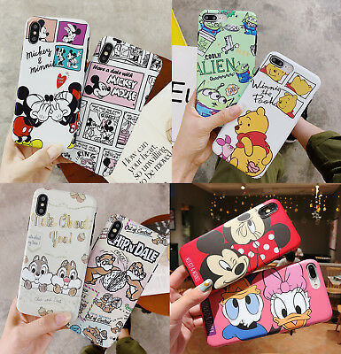 3D Cute Cartoon Disney Lovers Soft Case Cover for iPhone X XS Max XR 6s 7 8 Plus